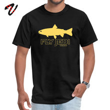 Slim Fit T Shirt Star Wars Short Sleeve Greyhound Tops Tees Fall Meme Men Tshirt FlyJedi Trout Top T-shirts New Design