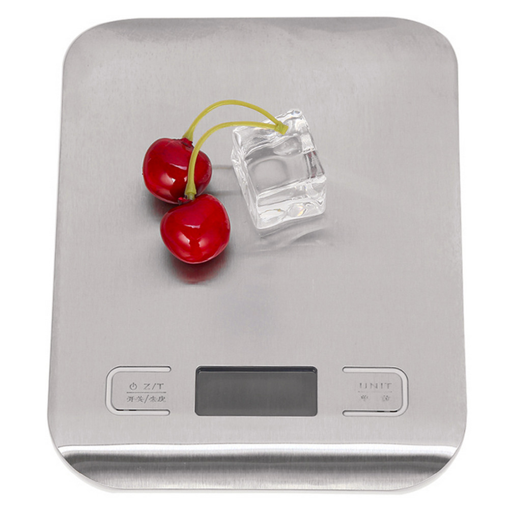 Stainless Steel Electronic Weight 1pc 5000g Digital Scale Kitchen Cooking Measure Tools LED Electronic Bench Scale Weight free shipping farmar said electronic electronic scale weight calibration standard weight 100g weight stainless steel href