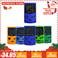 2.7 GB Boy Classic Color Colour Handheld Game Console Game Player with Backlit 66 Built in Games Juegos Mando Blue Green
