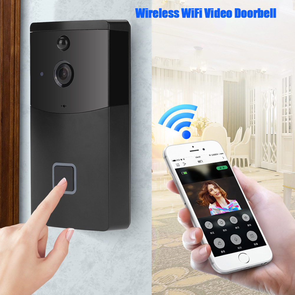 Wireless Bell WiFi Doorbell Video Camera Phone Ring Automatic Call Door Bell Intercom Night Vision Home