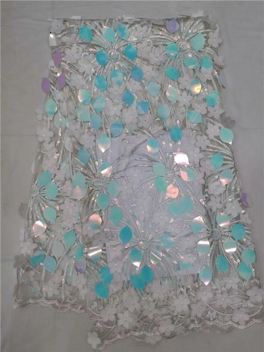 Français Net dentelle tissu 2018 dernier africain Guipure dentelle tissu avec broderie maille Tulle or cordon paillettes dentelle tissu bleu ciel