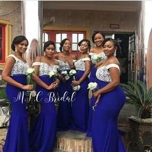 Wholesale African Bridesmaid Dresses 2019 Mermaid Royal Blue