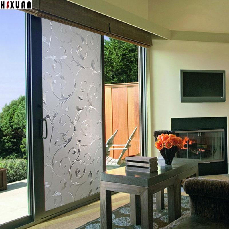 80x100cm sliding glass door window film privacy home ...