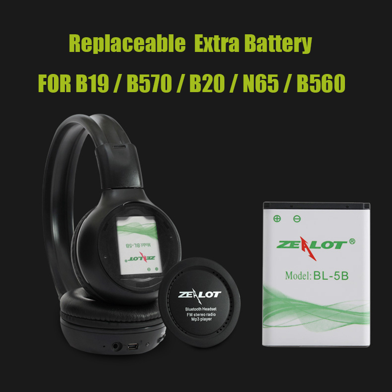 ZEALOT BL-5B Headphone Replaceable Battery for B570 B19 B20 N65 B560 Headphones Lithium Battery
