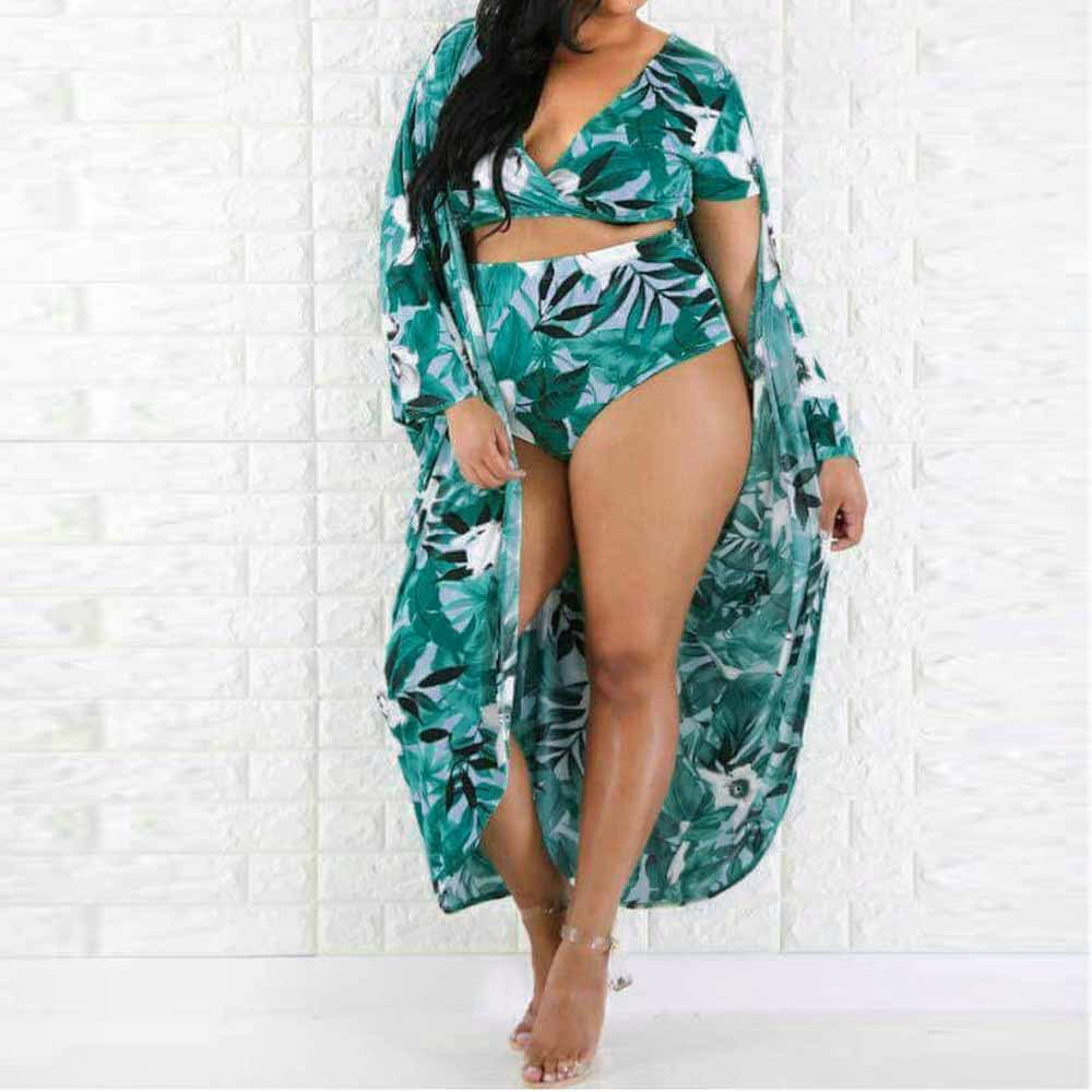 Womail plus size Swimwear Women high waist Sexy Bikini Set Printed Swimsuit tankini Push Up Bra Swiming Suit maio feminino praia