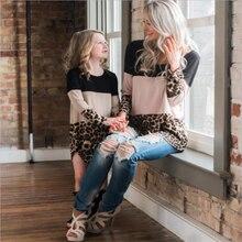 LILIGIRL/платья для мамы и дочки; Новинка года; сезон весна; платье «Мама и я»; Семейные комплекты; леопардовое кружевное платье для мамы и дочки