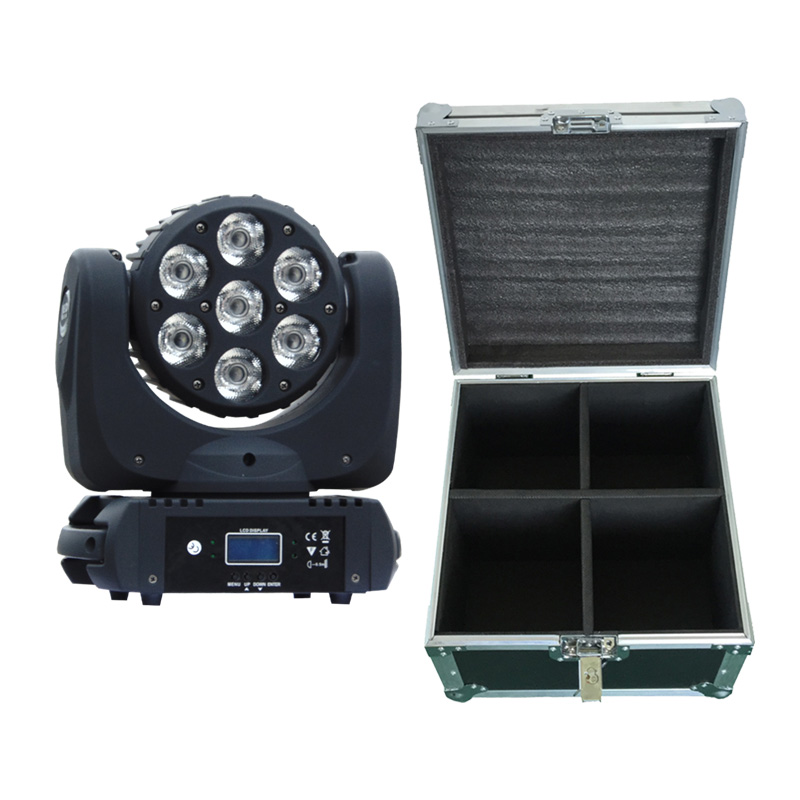 Beam Moving Head 12x12W RGBW Professional Stage Lighting 4in1 With Flight Case DJ Disco Event Lyre DMX Wash Effect Lamp