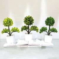 Şişe + çiçekler Ev dekorasyon yeşil bitkiler saksı Mini simülasyon simülasyon Şanslı Ağaç üreticileri toptan kaliteli