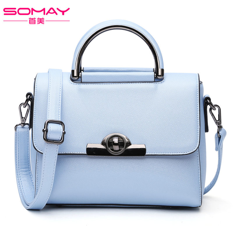 SOMAY famous brand women handbags 2017 European and American Style Fashion Luxury Shoulder Crossbody Bag Leisure postman package  creative new brand women retro genuine leather shoulder bag european and american style woman bag postman package with rivets