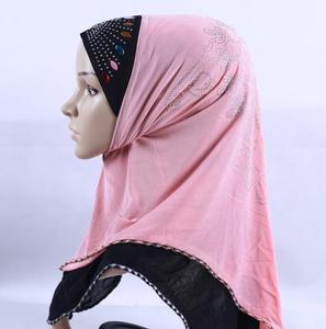 Image 3 - Clearance  Muslim Hijab Ethnic Style Female Scarf Islamic Headscarf (Forehead part beading pattern random sequin or crystal)