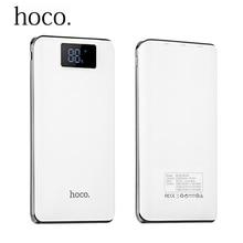 НОСО 18650 Мощность Bank 20000 мАч светодиод Внешний Батарея Портативный мобильный фаст Зарядное устройство 3 usb Мощность банка для IPhone Xiaomi Samsung