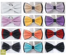 цена на Checker Grid Plaid Men Bow tie Pre-tied Tuxedo Necktie Woven Groom Wedding Mariage Party BowTie Neckwear BOM01
