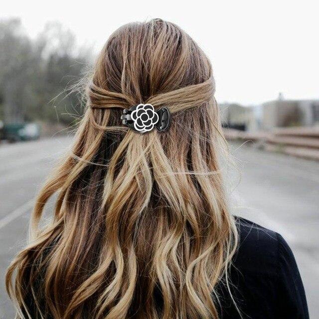 ファッション 1 PC 花のヘアクリップヘアピンツールバリカンクリップ女性エレガントなバレッタ女性 accesorios パラエル cabello