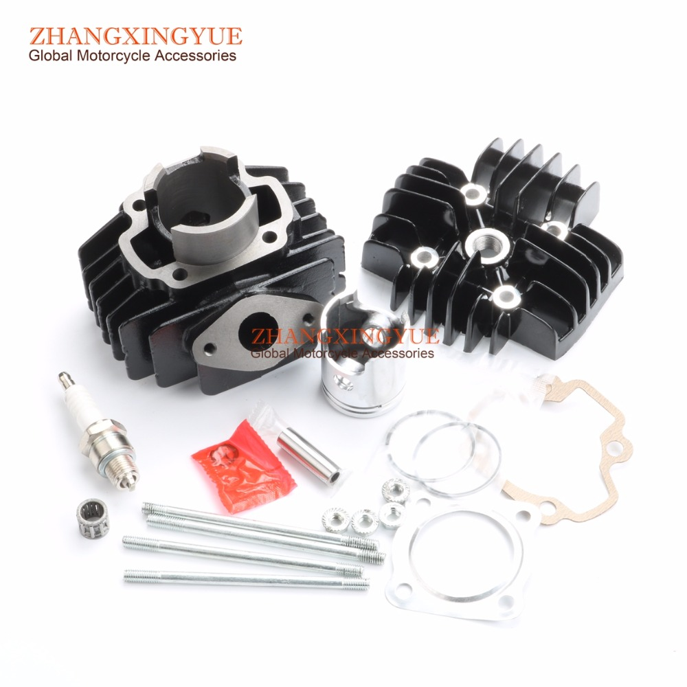 40mm/10mm Cylinder Piston Gasket Head Top End Kit for Yamaha PW50 QT50 1981-2017 4J2-11311-00-00 laidong km4l23bt for tractor like luzhong series set of piston groups with gaskets kit including the cylinder head gasket