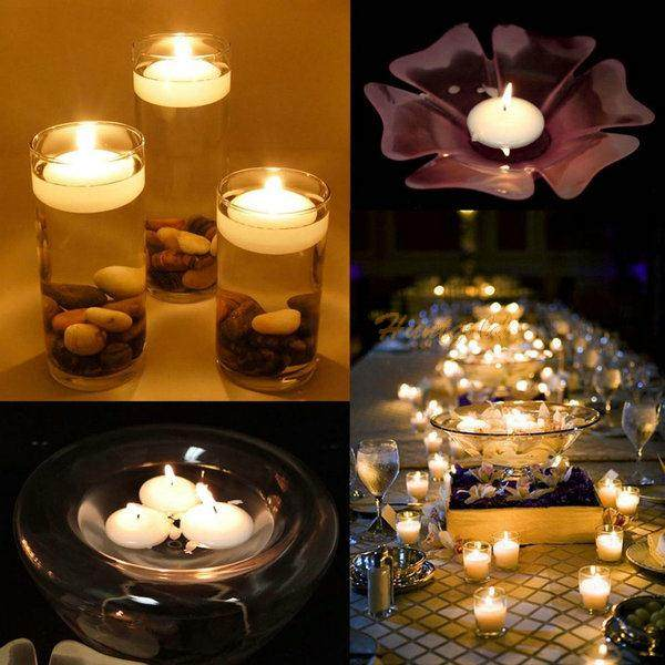 Online shop 10pc colors watter floating candle decor home holiday 10pc colors watter floating candle decor home holiday party wedding bridal decoration junglespirit Choice Image