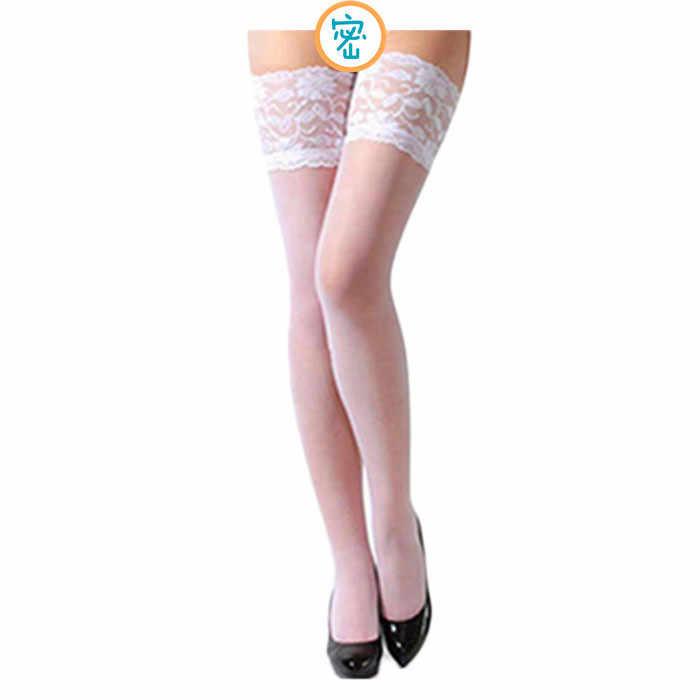 NoEnName_Null Wanita Kaus Kaki Panjang Wanita Di Atas Lutut Tubuh Seksi Stoking Pakaian Dalam Seksi Renda Merek Baru Kualitas Tinggi Lutut Kaus Kaki