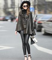 2018 New Women Fashion Genuine Leather Coat women's Sheepskin long coat Female loose casual leather jacket
