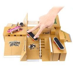 Monopatines para dedos juego de juguete 11 Uds Kit de parque de Skate juguetes para niños partes de rampa para cubierta de tecnología tablero de dedo último deporte entrenamiento Accesorios