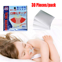 30pieces/pack Kids Anti Snore Stickers Anti-snoring Device Adult Relieve Snoring Paste Nose Stopping Close Mouth Sticker