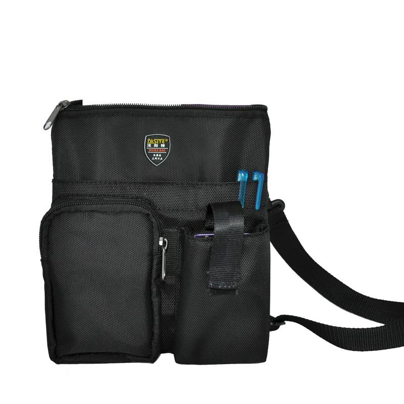 Multi-function Small Canvas Tool Bag Shoulder Bag Computer Repair Tools Bag Black