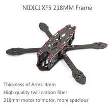 NIDICI XF5 218MM Carbon Fiber FPV Freestyle Racing Frame with 4mm Removable Detachable Arm Compatible 5051 Props Runcam Camera