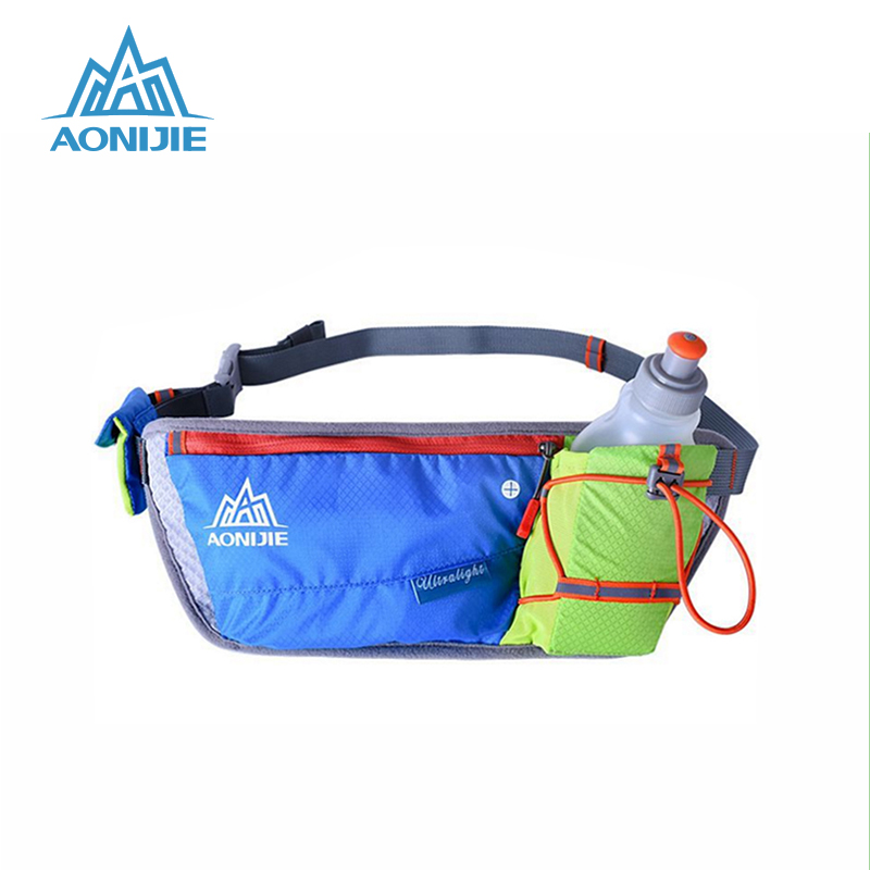AONIJIE Unisex Running Waist Bag Outdoor Handy Sports Hiking Racing Fitness Lightweight Hydration Belt Water Bottle Hip Bag