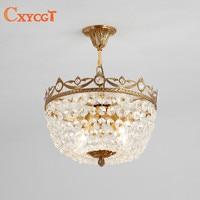 LED K9 Crystal Flush Mount Ceiling Light For Living Room Indoor Luminaria For Home Decoration E14 AC 110V~240V