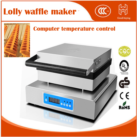 Фото computer temperature digital control Electric tree shape  French Muffin hot dog machine Lolly Waffle maker