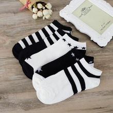 Free Shipping Summer/autumn Men's Short Socks Stripe Classical Good Quality Cotton Casual Casual Breathable Sock For Man S83