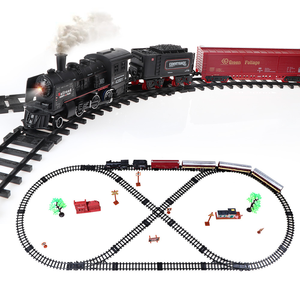 39pcs Alloy Simulation of high speed rail motor vehicle rail car electric train Retro train children