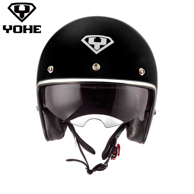 ФОТО YOHE-YH-859 Best Safe Harley capacete para motocicleta helmet Abs ECE High Quality Half face cascos para moto Open Face Helmet
