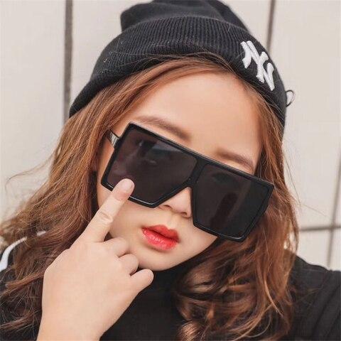 2019 Sunglasses Childrens Brand Designer Large Frame Square Sunglasses Vintage Oversized Sunglasses Travel Boys Girls Tones Multan