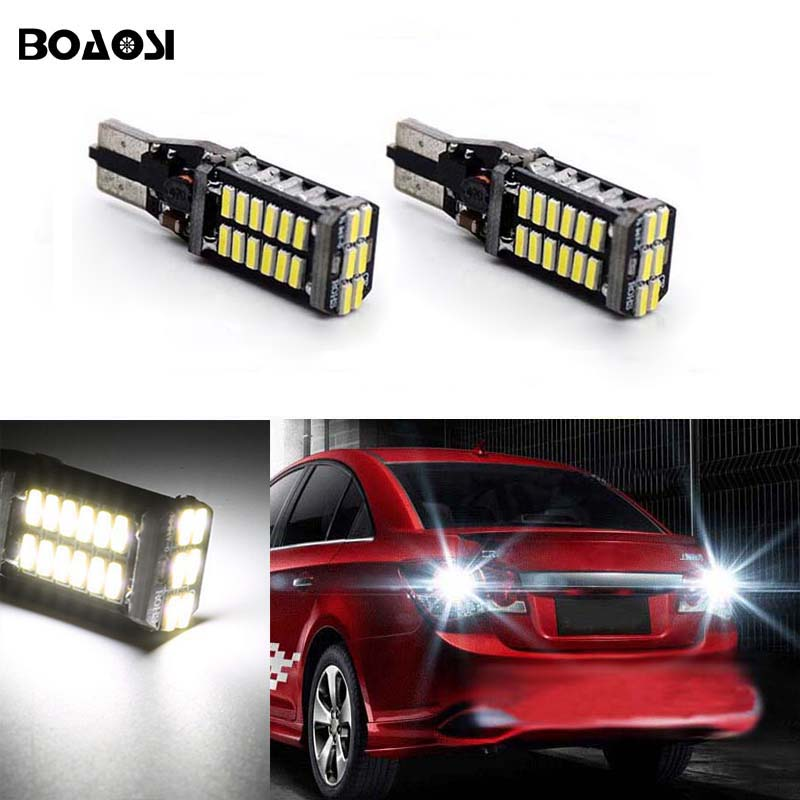 BOAOSI For Ford Hyundai BMW Mazda 6 8 cx3 cx5 m8 rx8 Canbus Error Free 921 912 W16W T15 4014SMD Led Backup Reverse Light 2pcs deechooll 2pcs wedge light for mazda 2 3 5 6 mx5 rx8 cx7 626 gf gg ge gw canbus t10 57smd 6w led clearance xenon lighting bulbs