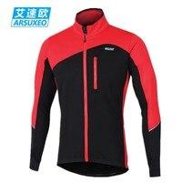 ARSUXEO Cycling Jacket Winter Thermal Fleece Ropa Ciclismo Chaquetas Warm Up MTB Bike Jacket Windproof Reflective