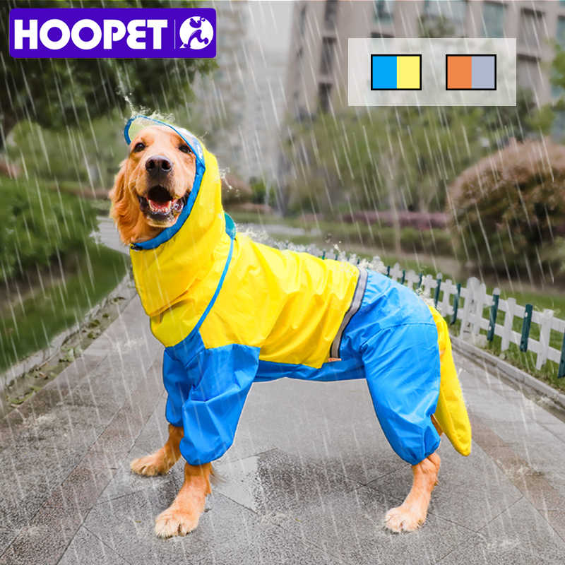 HOOPET Dog Riancoat Tuta Cappotto di Pioggia per I Cani Pet Mantello Labrador Impermeabile Golden Retriever Giacca