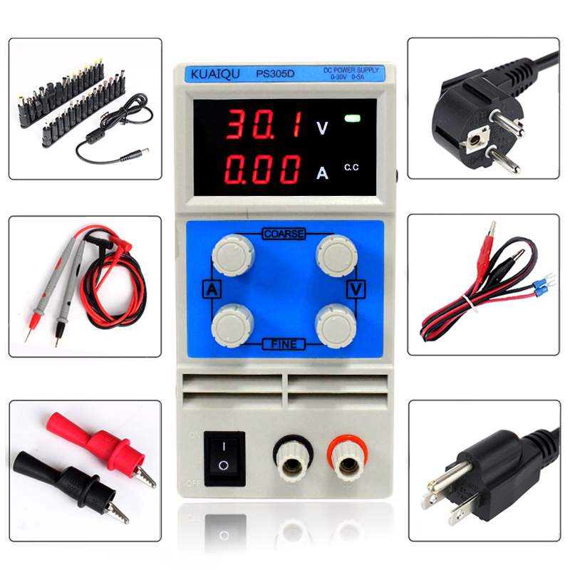 PS305D New Design 30V 5A 0.01A Mini Switching Regulated Adjustable DC Power Supply for Scientific Research Service Laboratory new kps3020d high precision adjustable digital dc power supply 30v 20a for scientific research laboratory switch dc power supply