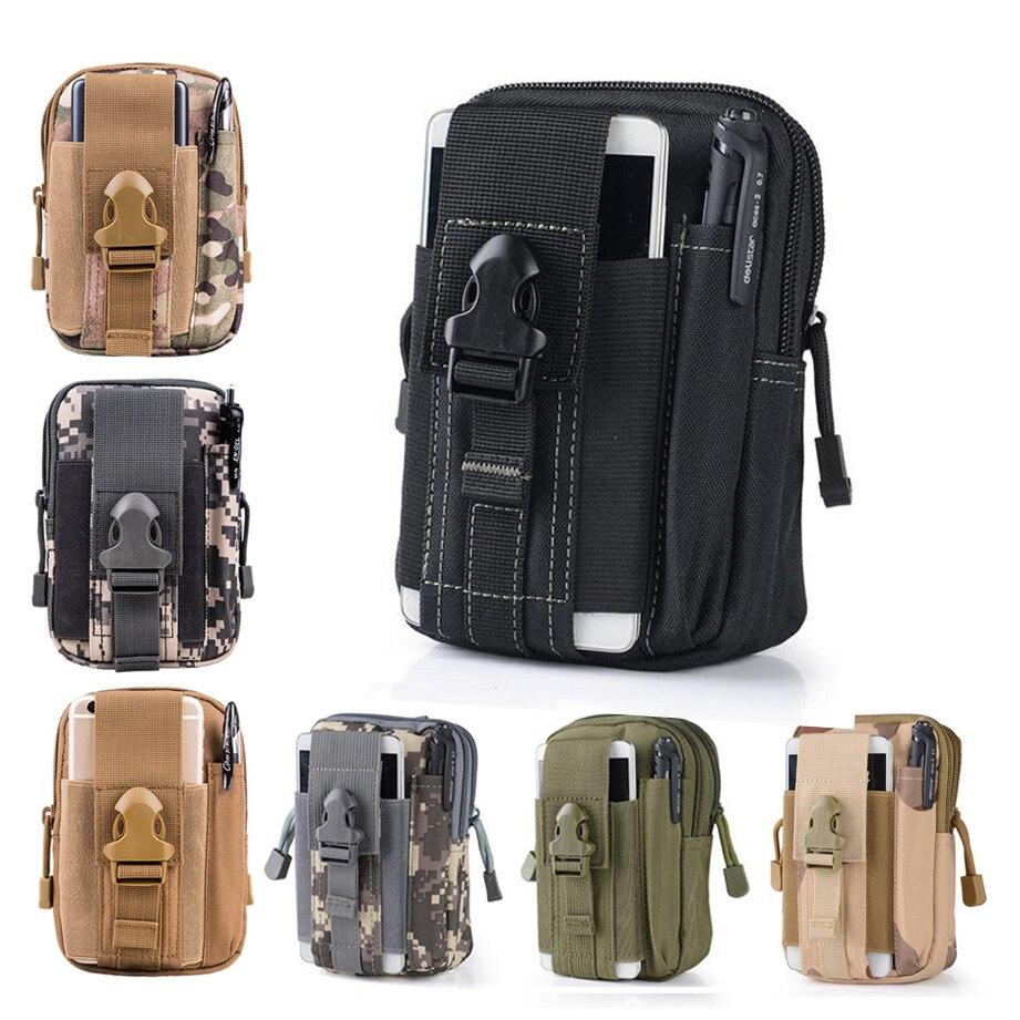 Universal Outdoor Tactical Holster Militär Molle höft midje bälte - Reservdelar och tillbehör för mobiltelefoner