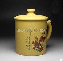 High-grade purple cups China Wind Cup Creative hand-painted purple teacup Ore segment authentic handmade clay tea