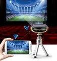 Smartphone Proyector mini Proyector Full HD de Bolsillo Proyector DLP Teléfono con WIFI LCD Reproductor Multimedia de Cine En Casa Portátil Incorporado