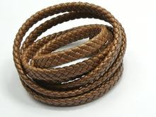 5 meters 16.4 Flat Braided Synthetic Jewelry Findings decorative diy accessories Feets Coffee Leather Cord 10X4mm(China)