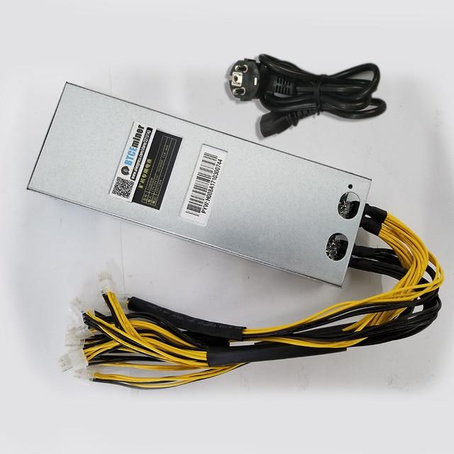 BTC LTC Miner Power Supply 220V 12V 120A Max Output 1600W For Antminer L3+ S9 Baikal X10 The Same As the Bitmain Original PSU