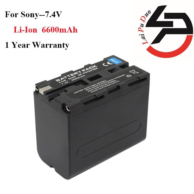 Marque nouvelle 6600 mah Haute Qualité Remplacement Batterie Pour Appareil Photo Sony F970 F960 BC-V615 DCM-M1 GV-A500E GV-D200 GV-D800