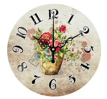 16 inch European Style Rose Flower Wall Clock Home Decor Vintage Modern 2017 Large 3D Digital Wall Clock Watch Living Room