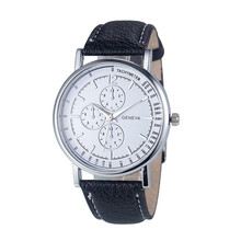 Durable Women Fashion Diamond Analog Quartz Faux Leather Wrist Watch Watches Gift 11.30