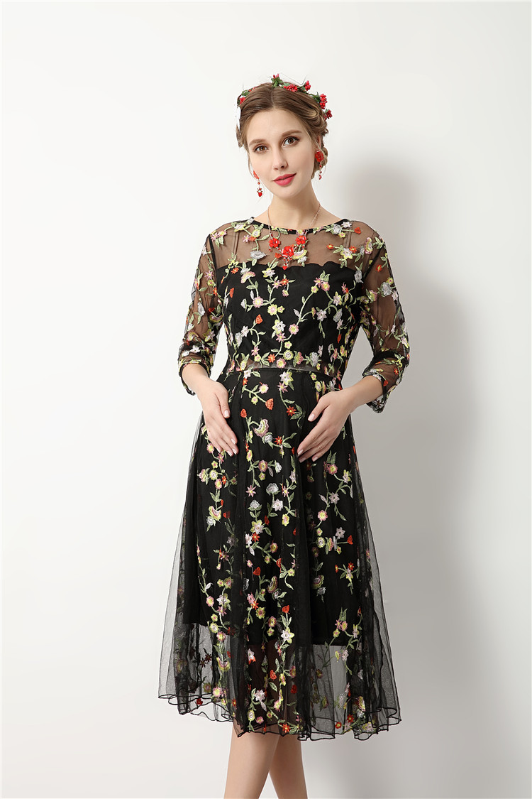 b8cf09f125b95 RQ New Fashion Maternity Flower embroider Dress Photography Props Dress  Pregnancy Dress Maternity Dress for Photo Shoot Q142-in Dresses from Mother  & Kids ...