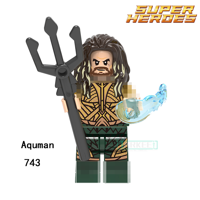 Building Blocks Aquaman Reverse-Flash Parademon Katana Super Hero Star Wars Set Bricks Dolls Kids DIY Toys Hobbies XH743 Figures single sale aquaman reverse flash parademon green lantern booster gold power girl katana building blocks toys for children x0177