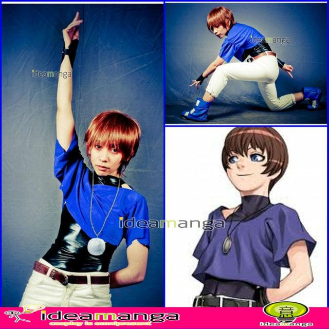 [ideamanga]Anime Cosplay The King Of Fighters KOF 97 KOF Chris blue Cosplay  BOY's