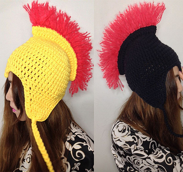 Cool Novelty Nepal Hippie Rock Beanie Handmade Knitted Hat Men's Winter Warm Cap Gift