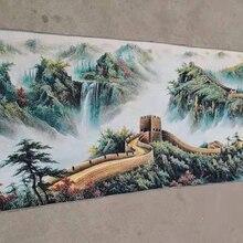 160x60 см/китайская шелковая вышивка пейзаж живопись-китайская Великая стена