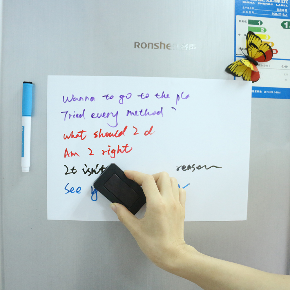 Magnetic Whiteboard For Kitchen Fridge A4 Size 0.5 Mm Thick Magnetic Board  For Refrigerator Shopping List